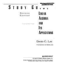 Linear Algebra And Its Applications Book PDF