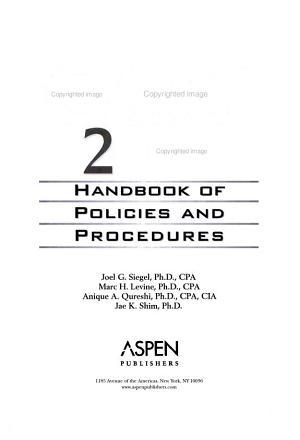 Gaap 2004 Handbook of Policies and Procedures PDF