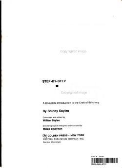 Step by step Stitchery PDF
