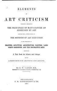 Elements of Art Criticism PDF