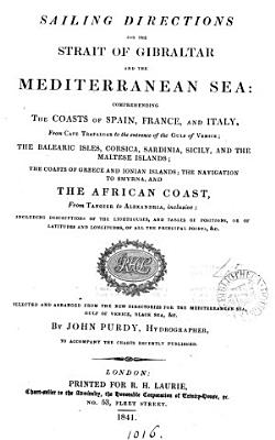 Sailing directions for the strait of Gibraltar and the Mediterranean sea