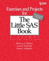 Exercises and Projects for The Little SAS Book  Sixth Edition PDF