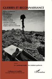 Guerres et reconnaissance