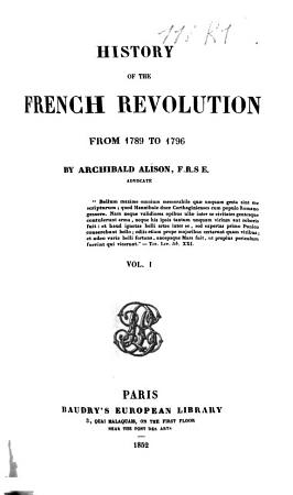 History of the French Revolution from 1789 to 1796 PDF
