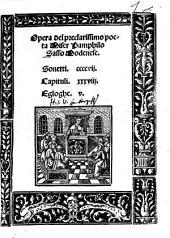 Sonetti, Capituli, Egloge