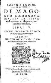 De Magorum Daemonomania: l. IV.