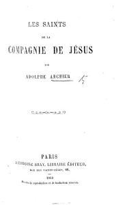 Les Saints de la Compagnie de Jésus