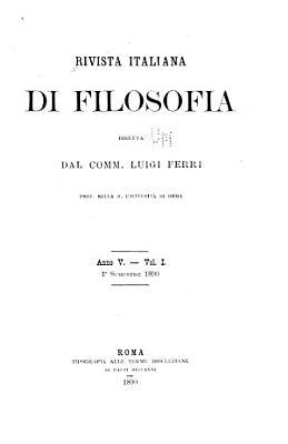 Rivista italiana di filosofia PDF