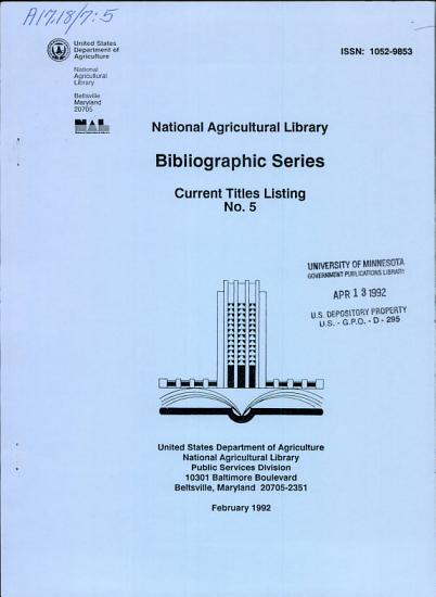 Bibliographic Series  Current Titles Listing PDF