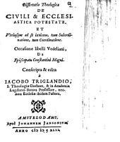 Dissertatio ... de ... Ecclesiastica Potestate