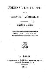 Journal universal des sciences médicales: Volumes23à24