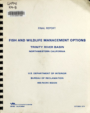 Fish and Wildlife Management Options  Trinity River Basin  Northwestern California