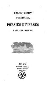 Passe-temps poétiques: poésies diverses