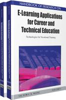 Handbook of Research on E Learning Applications for Career and Technical Education  Technologies for Vocational Training PDF