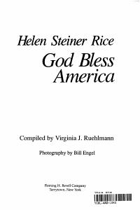 God Bless America PDF
