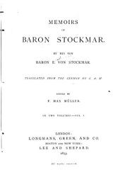 Memoirs of Baron Stockmar: Volume 1