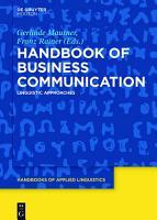 Handbook of Business Communication PDF