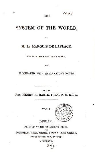 The system of the world  tr  and elucidated by H H  Harte PDF