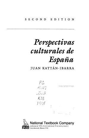 Perspectivas Culturales de España