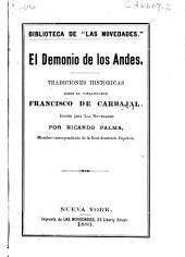 El demonio de los Andes: tradiciones históricas sobre el conquistador Francisco de Carbajal
