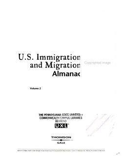 U S  Immigration and Migration Almanac PDF