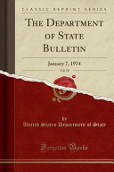 The Department of State Bulletin  Vol  70 PDF