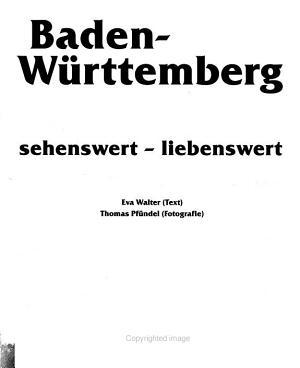 Baden W  rttemberg PDF