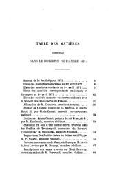Bulletin de la Société Nationale des Antiquaires de France: 1872