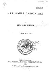 Are Souls Immortal?
