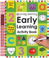 Wipe Clean Early Learning Activity Book PDF
