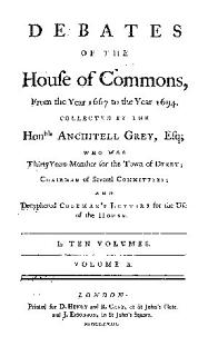 Debates of the House of Commons Book