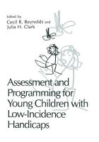 Assessment and Programming for Young Children with Low Incidence Handicaps PDF