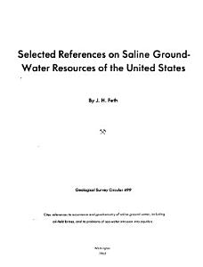Selected References on Saline Ground water Resources of the United States Book