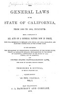 The General Laws of the State of California PDF