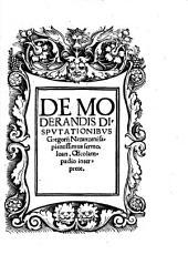 De moderandis disputationibus Gregorij Nazanzeni sapientissimus sermo, Joan. Oecolampadio interprete