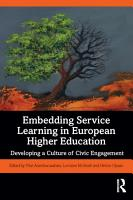 Embedding Service Learning in European Higher Education PDF