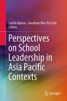 Perspectives on School Leadership in Asia Pacific Contexts PDF