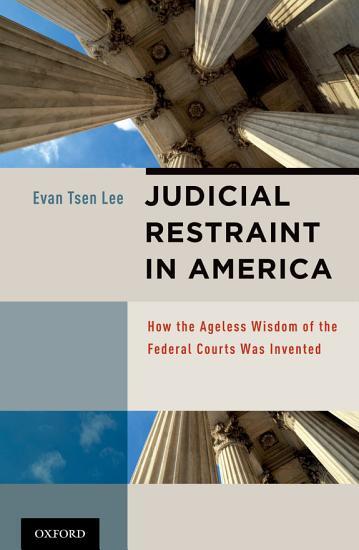 Judicial Restraint in America PDF