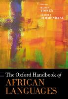 The Oxford Handbook of African Languages PDF