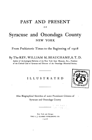 Past and Present of Syracuse and Onondaga County  New York PDF