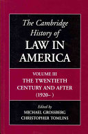 The Cambridge History of Law in America PDF