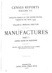 Census Reports: Manufactures