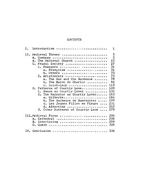 Medieval Themes and Forms in A la Recherche Du Temps Perdu PDF