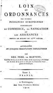 Gesetze und verordnungen der einzelnen europäischen mächte über handel