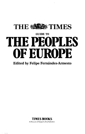 The Times Guide to the Peoples of Europe PDF