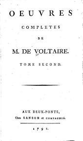 Oeuvres complètes de M. de Voltaire: Volume2