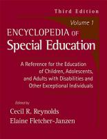 Encyclopedia of Special Education PDF