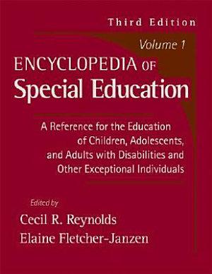 Encyclopedia of Special Education PDF