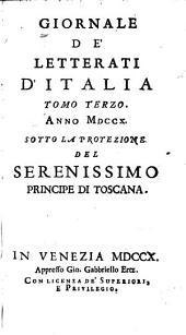 Giornale de' letterati d'Italia: Volume 3