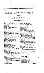 Notices générales des graveurs, divisés par nations, et des peintres rangés par écoles: précédées de l'histoire de la gravure et de la peinture depuis l'origine de ces arts jusqu'à nos jours, et suivies d'un catalogue raisonné d'une collection choisie d'estampes